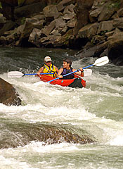 Whitewater rafting on the Nantahala river is a short drive away